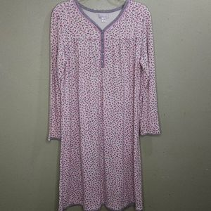 Celestial Dreams Floral Print Nightgown L
